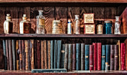 Apothecary Photos - Remedies and Visiting List by Susan Candelario