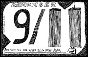 Laughzilla Drawings - Remember 9 11 by Yasha Harari