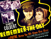 Claudette Posters - Remember The Day, Claudette Colbert Poster by Everett