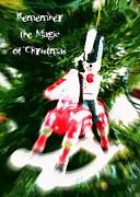 Rocking Horse Posters - Remember the Magic of Christmas - Greeting Card Poster by Carol Groenen