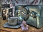 Vintage Radio Prints - Remember The Past Print by Jane Linders