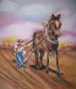 The Horse Pastels Prints - Remember When Print by Dolores Aragon