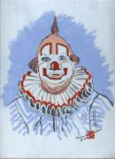 Howdy Doody Prints - Remembering Clarabelle the Clown Print by Arlene  Wright-Correll