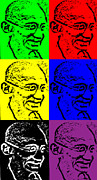 Biographies Framed Prints - Remembering Gandhi Framed Print by Saad Hasnain