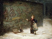 Winter Night Prints - Remembering Joys that have Passed Away Print by Augustus Edward Mulready