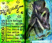 Survivor Art Painting Posters - Remembering My Son -  Art Journal Entry Poster by Angela L Walker