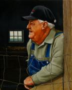 Old Barns Painting Prints - Remembering Old Maude Print by Doug Strickland