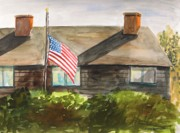 Red White And Blue Drawings - Remembering Patriot Day by John  Williams