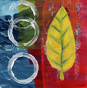 Leaf Abstract Posters - Remembrance Poster by Linda Woods
