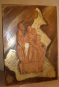 Religious Art Sculpture Originals - Remerciements by Emmanuel Baliyanga