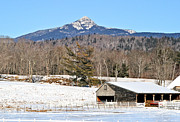 Mt Chocorua Posters - Remick Winter Poster by Larry Landolfi