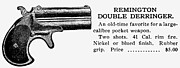 Remington Prints - Remington Double Derringer Print by Granger