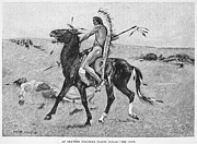 Remington Prints - Remington: Plains Native American Print by Granger