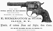 Remington Prints - Remington Revolver Print by Granger