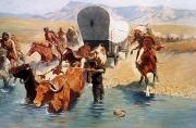 Covered Wagon Posters - Remington: The Emigrants Poster by Granger