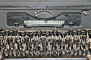 Typewriter Keys Prints - Remington Typewriter Close Up Print by Pamela Walrath