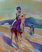 Anna Duyunova Art Acrylic Prints - Reminiscences of Asia. Childhood Dreams Acrylic Print by Anna  Duyunova