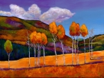 Aspen Trees Paintings - Reminiscing by Johnathan Harris