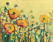 Impressionism Glass Posters - Reminiscing on a Summer Day Poster by Jennifer Lommers