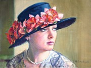 Hat Lady Framed Prints - Reminiscing Framed Print by Sue Halstenberg