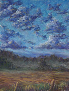 Line Pastels Originals - Remnants of an Early Morning Storm by Erica Keener