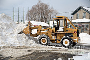 Snowstorm Art - Removing Snow by Ted Kinsman