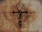 Cross Art - Renaissance Alchemists Cross by Dreams of Alchemy Fine Art