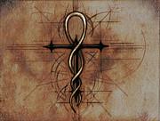 Renaissance Alchemist's Cross Print by Seth Chamberlin