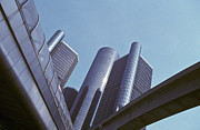 Office Space Metal Prints - Renaissance Center in Detroit Metal Print by Will & Deni McIntyre