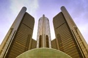 Renaissance Center Print by Michael Peychich