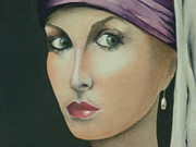 Poise Painting Prints - Renaissance closeup Print by Kaye Miller-Dewing