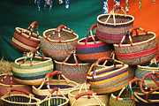 Baskets Photos - Renaissance Market by Ellen Cotton