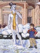 Renaissance Snowman Print by Jeff Brimley