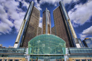 Cadillac Digital Art Originals - RenCen Detroit GM Renaissance Center by Gordon Dean II