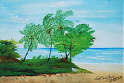 Haitian Paintings - Rendez-vous By The Beach by Nicole Jean-Louis