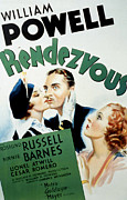 Rendezvous Posters - Rendezvous, Rosalind Russell, William Poster by Everett