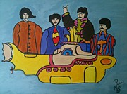 Beatles Art - Rendition of a submarine by Paula Marcenaro Solinger