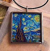 Sky Jewelry - Rendition of Starry Night 2 by Dana Marie
