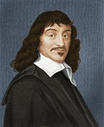 Rationalism Framed Prints - Rene Descartes, French Philosopher Framed Print by Maria Platt-evans