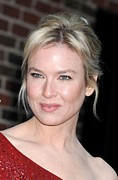 Messy Updo Framed Prints - Renee Zellweger At Talk Show Appearance Framed Print by Everett