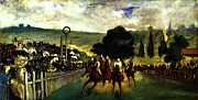 Races Paintings - Rennen in Longchamp by Pg Reproductions
