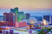 Reno Prints - Reno at Sunset Print by Ricky Barnard