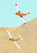 Race Digital Art Originals - Reno Jet Class Racers John Kokshoorn and Greg McNutt Reno Air Races 2010 by Gus McCrea