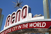 Reno Prints - Reno . The Biggest Little City In The World Print by Wingsdomain Art and Photography