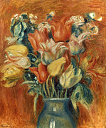 August Prints - Renoir: Bouquet Of Tulips Print by Granger