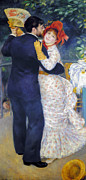 Dancing Framed Prints - Renoir: Dancing, 1883 Framed Print by Granger