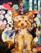 Custom Art Paintings - Renoir Dog by GretchenArt FineArt