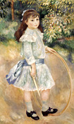 1885 Photos - Renoir: Girl/hoop, 1885 by Granger