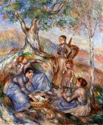 1880s Framed Prints - Renoir: Grape Pickers Framed Print by Granger