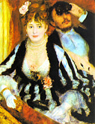 1892 Framed Prints - Renoir La Loge Framed Print by Pg Reproductions